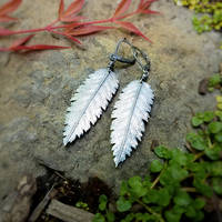 Sorbus aucuparia, Rowan (Mountain Ash) Earrings 2 by QuintessentialArts