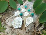Juniperus turquoise Set in Pure Silver by QuintessentialArts