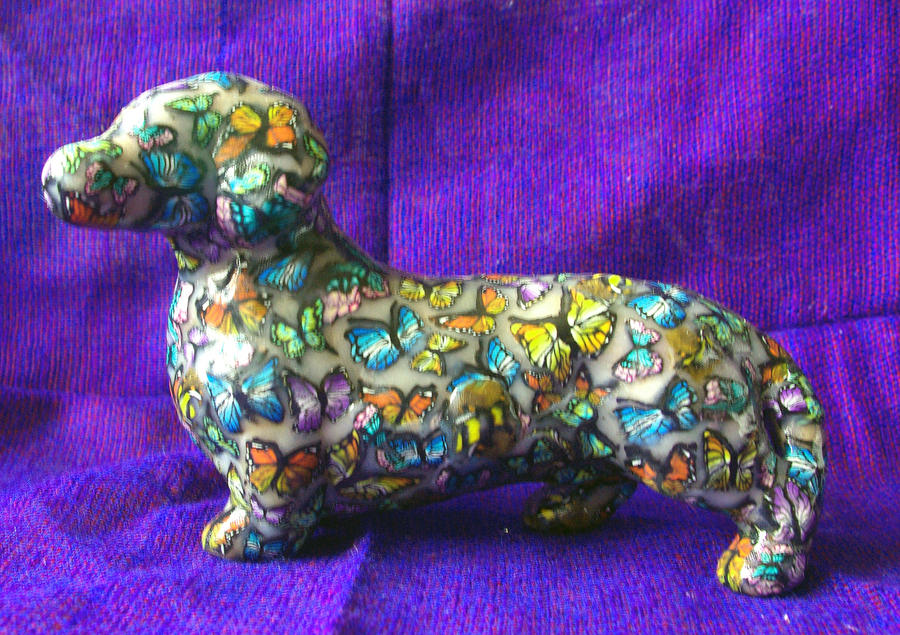 Cool Weiner Chubby Adorable Dog - wiener_dog_poly_clay_butterfly_by_lepassions-d35ykqb  Image_249943  .jpg