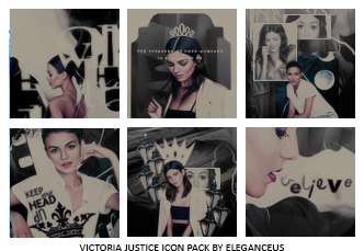 Victoria Justice Icon Pack by eleganceuss