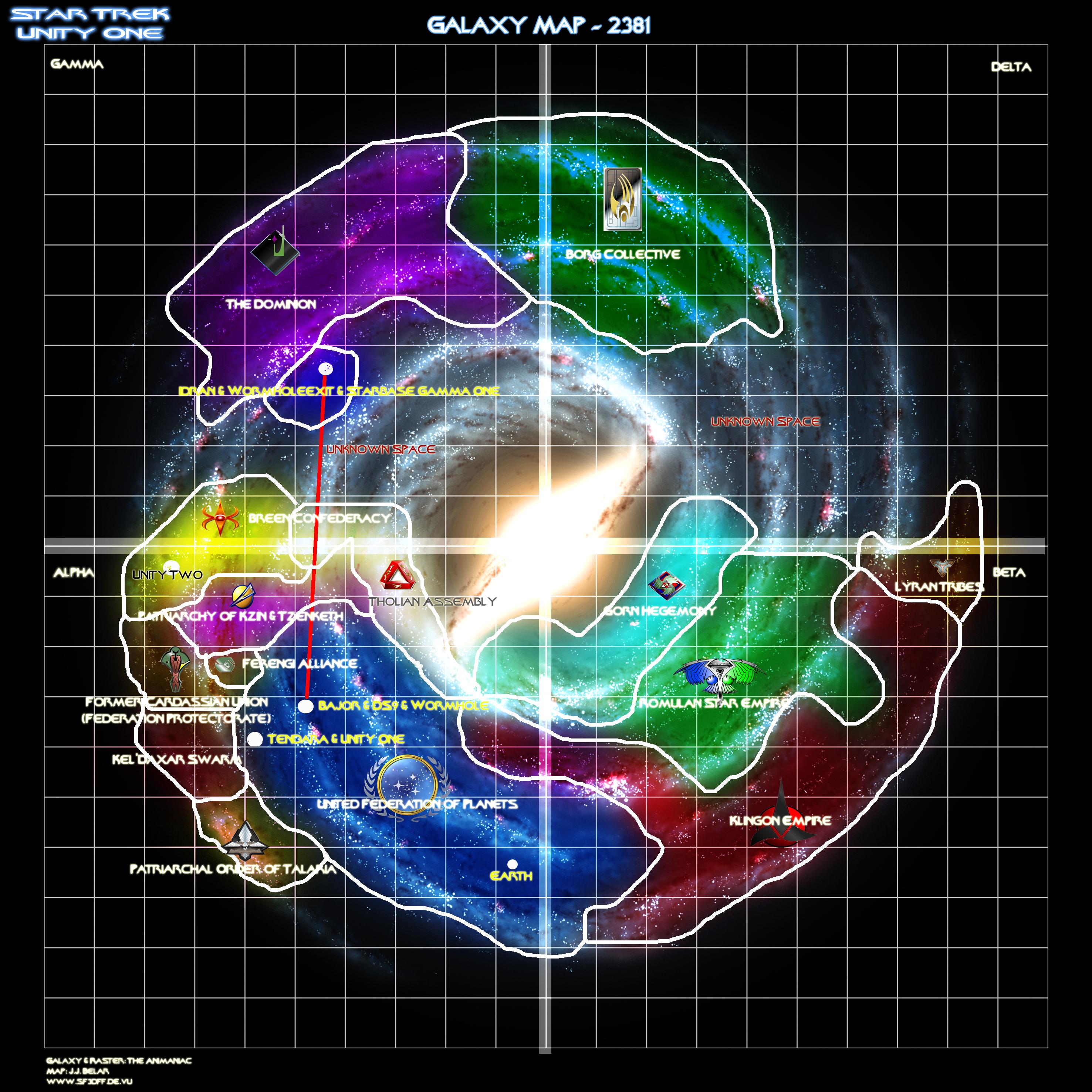 Open Galaxy Map Star Trek Voyager Pinterest