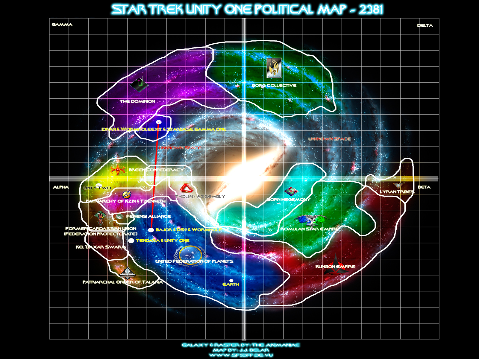 Milky Way Galaxy Of Star Trek Races Or Species Triton World