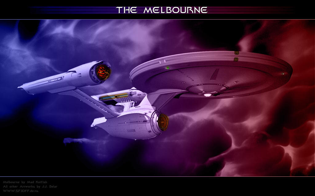 Federation Starship Melbourne by Joran-Belar