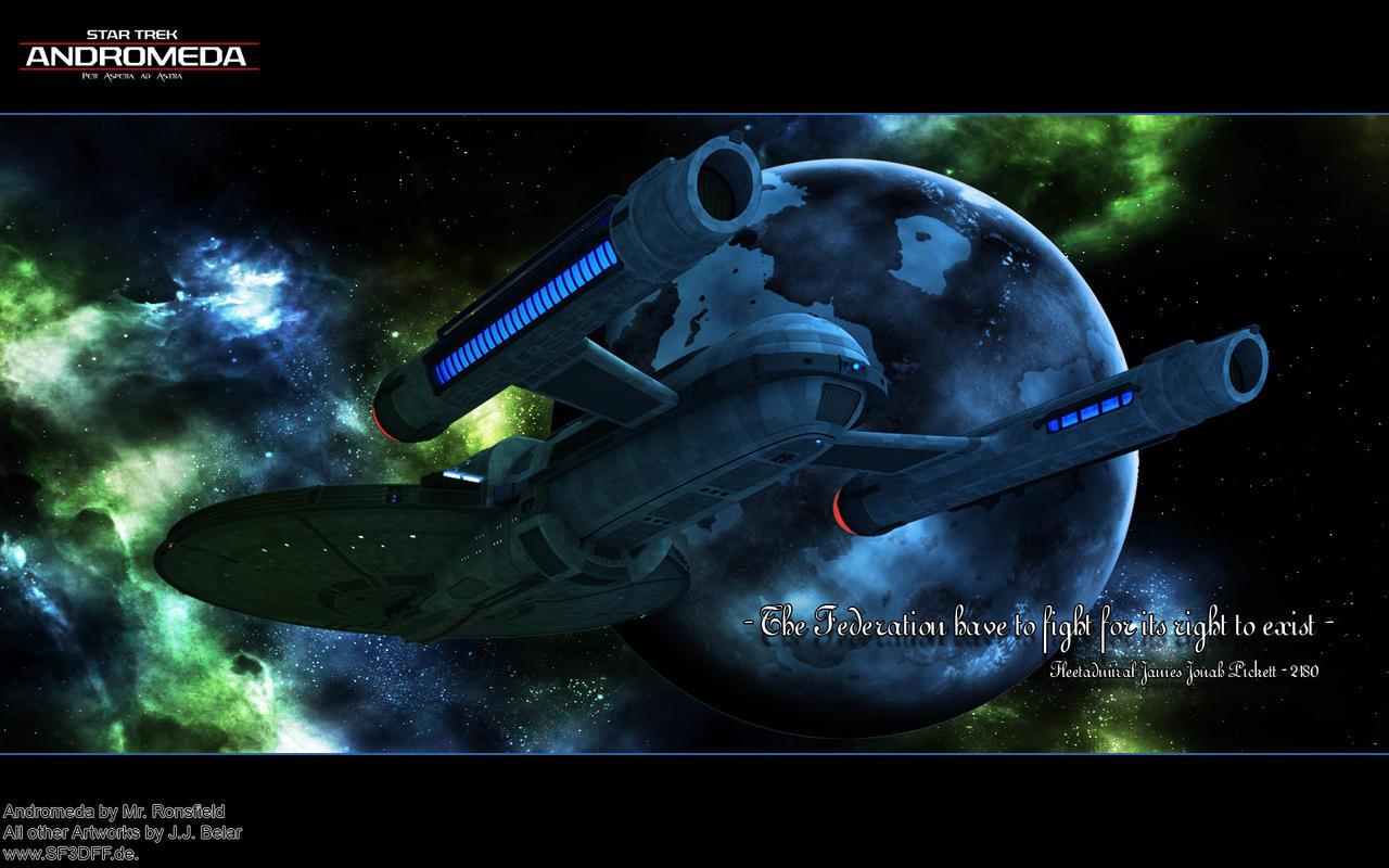ST: Andromeda over Cheron by Joran-Belar
