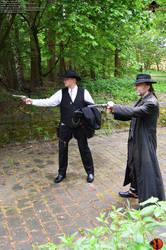The Gunslinger - Outdoorshooting46 by Joran-Belar