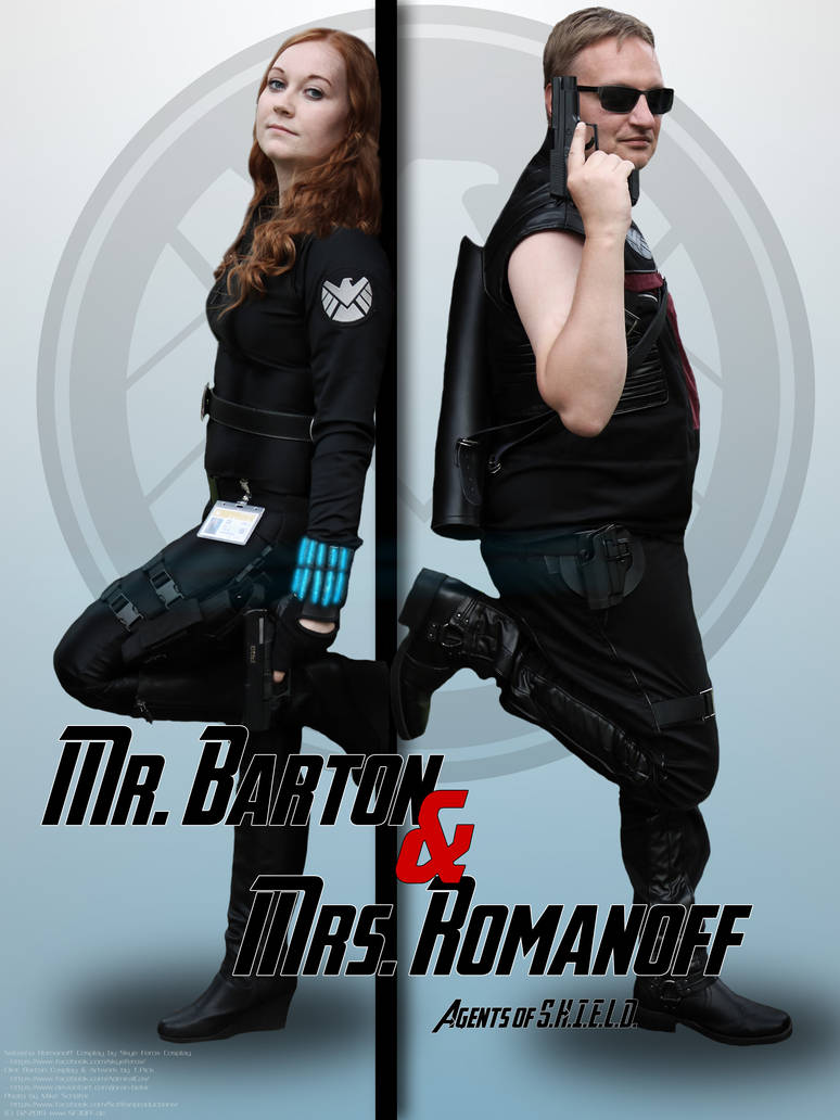 Black Widow and Hawkeye Cosplay - Poster