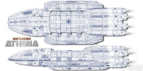 Battlestar Athena Wireframe by Joran-Belar