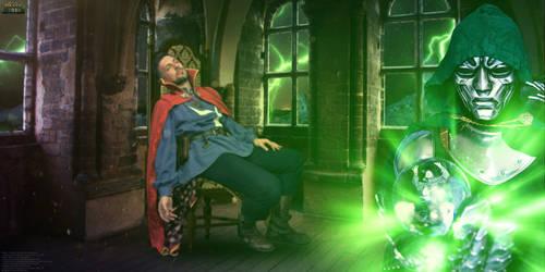Doctor Strange vs Doctor Doom Cosplay - Wallpaper by Joran-Belar