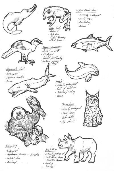 Endangered Animals pt 1 by lemurkat