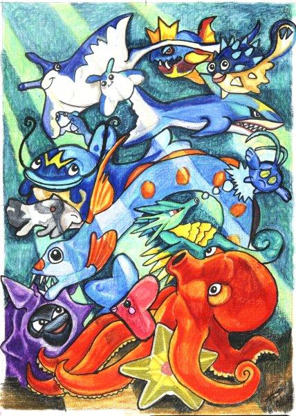 Pokemon of the Deep by lemurkat
