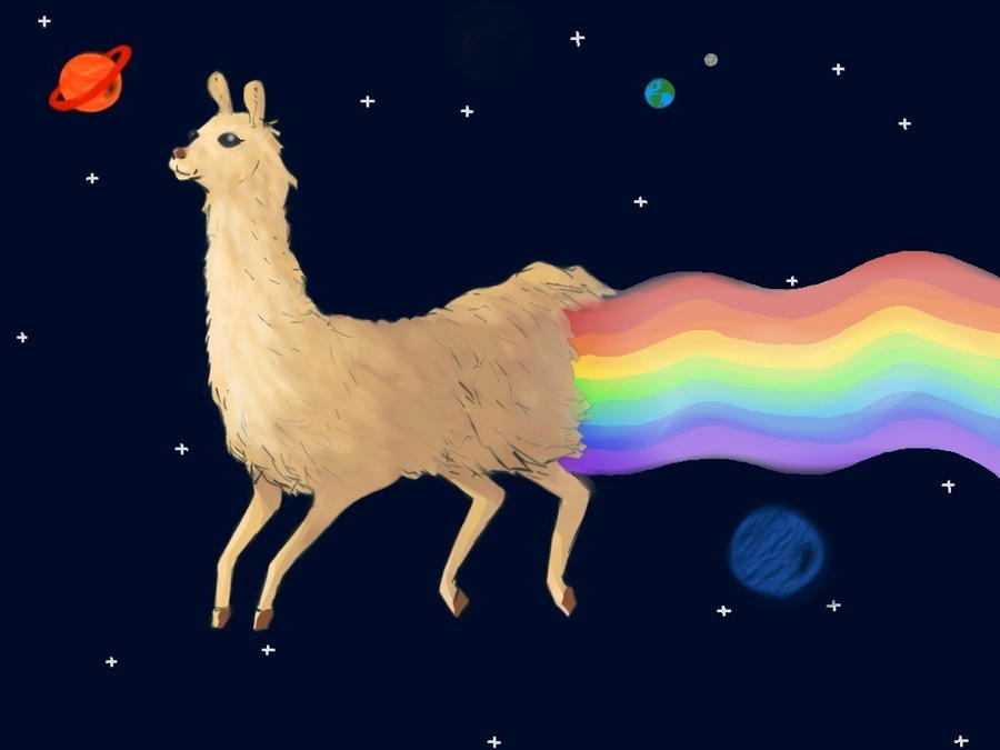 Space llama by Cleo10233