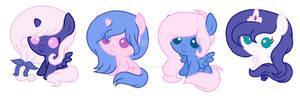 Filly Celestia And Luna Adoptables :OPEN: