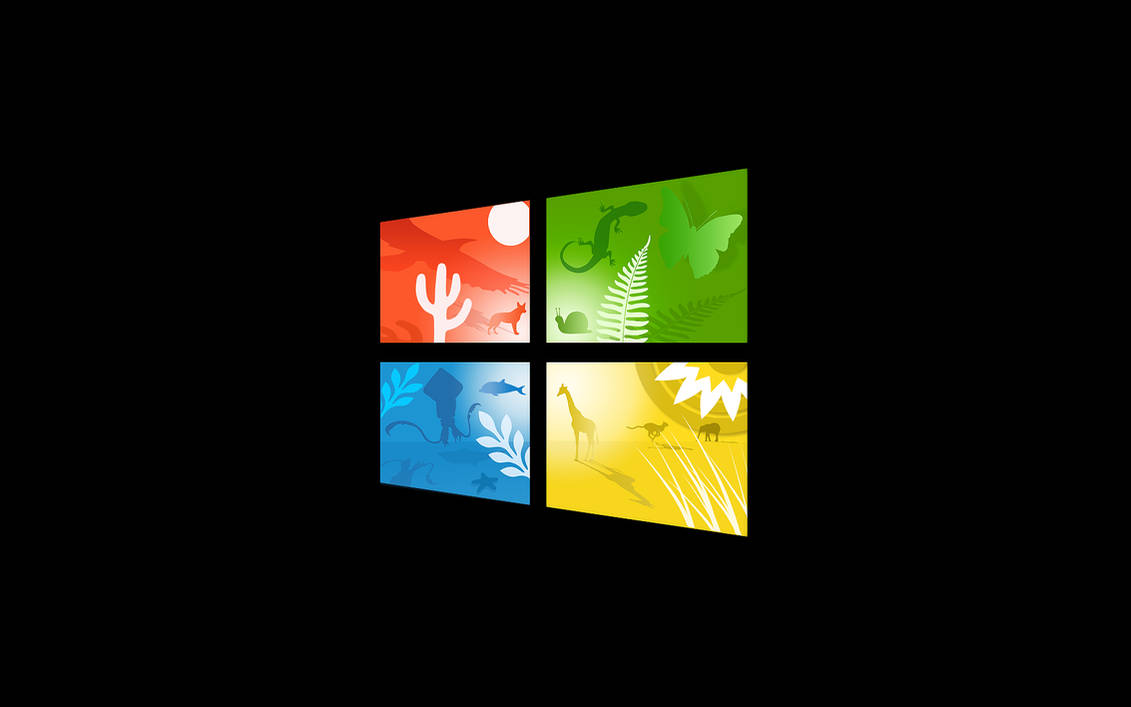 windows 10 wallpaper with scenic logo by TravisLutz