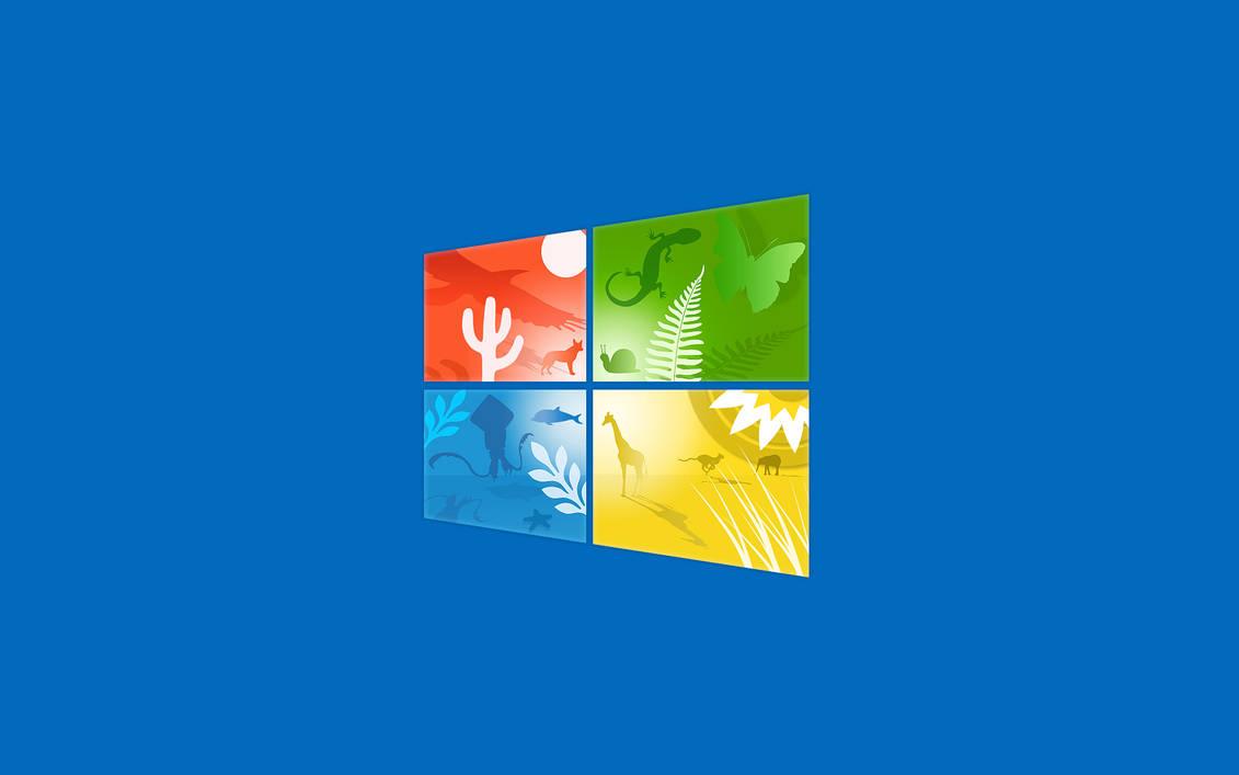 Blue Windows 10 Wallpaper