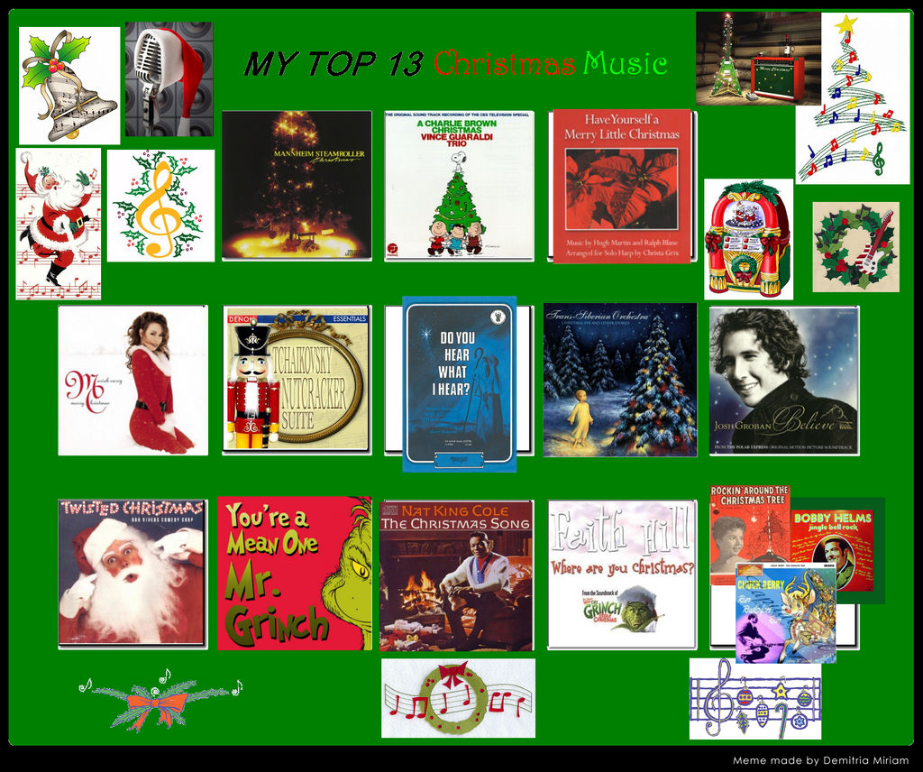 Christmas Music Meme.Bbd S Top 13 Christmas Music Meme By Blackbluedawg On Deviantart