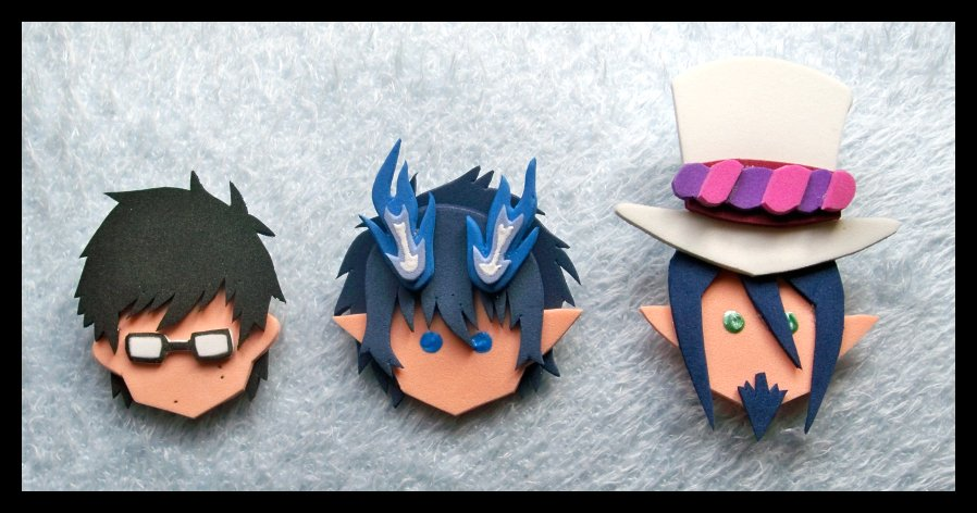 Pins Blue Exorcist by GwydionAE on DeviantArt