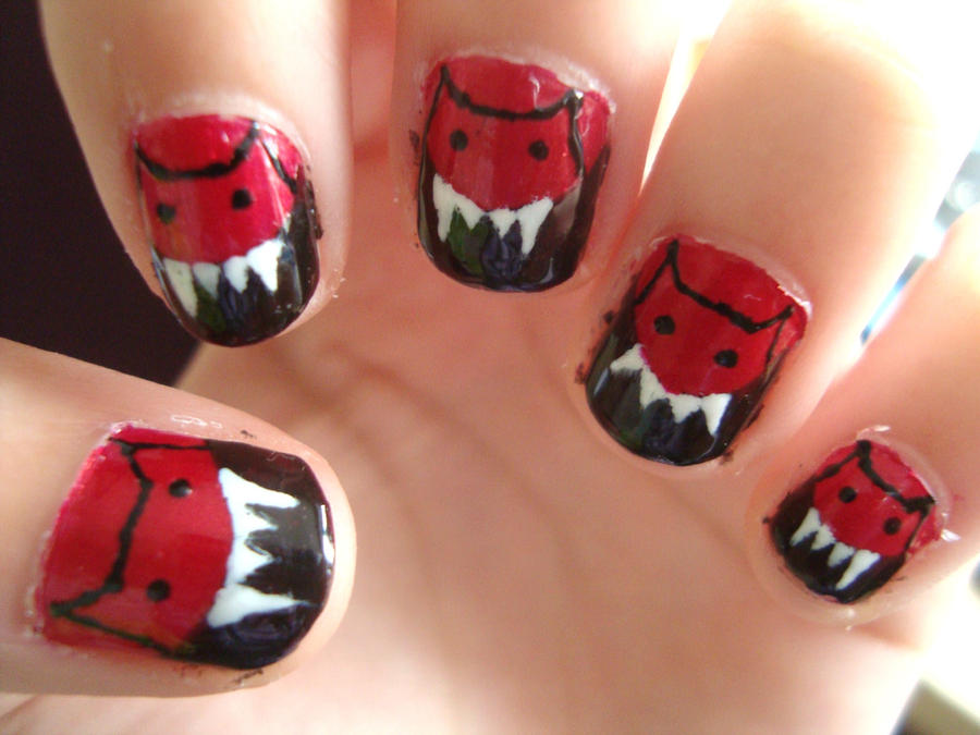 Little red devil nails by luminousleopard on deviantart little red devil nails by luminousleopard prinsesfo Choice Image