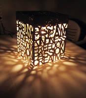 Travertine Stone Lamp by milkool