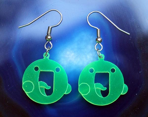 :la: icon acrylic earrings by milkool