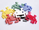 Space Invader plastic necklace