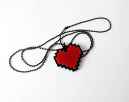Undertale Heart Pixels Necklace - Frisk cosplay