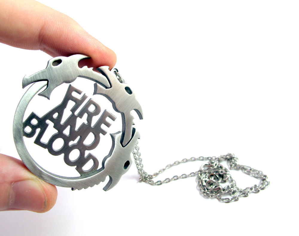 Game of Thrones Targaryen pendant by milkool