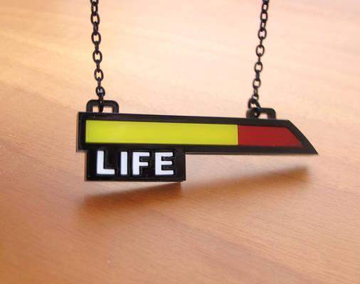 Life bar acrylic necklace