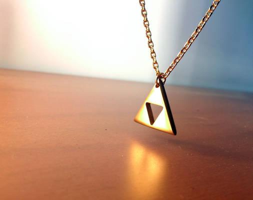 Gold plated Zelda Triforce