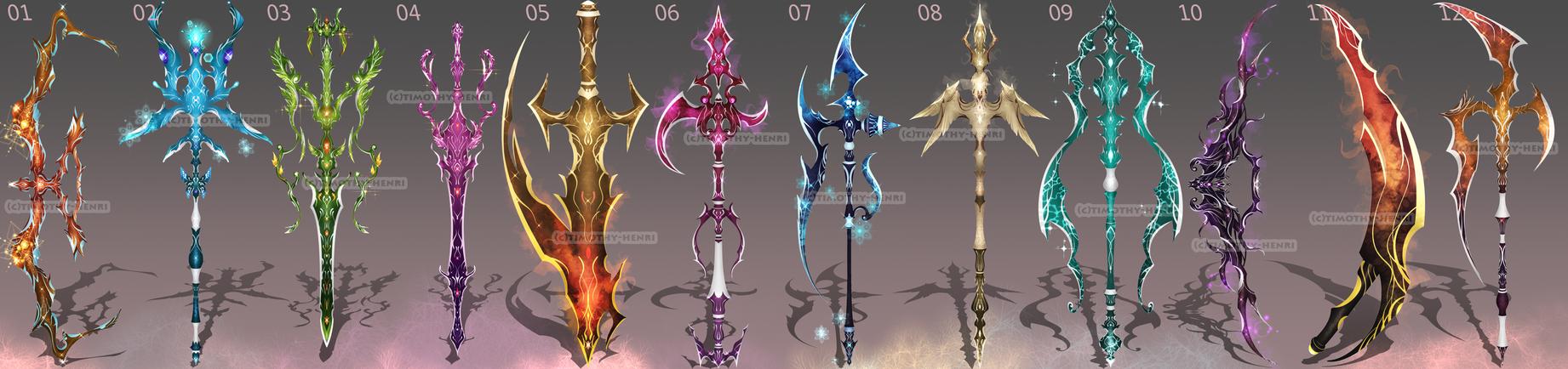 Sale weapon adoptable set by timothy henri