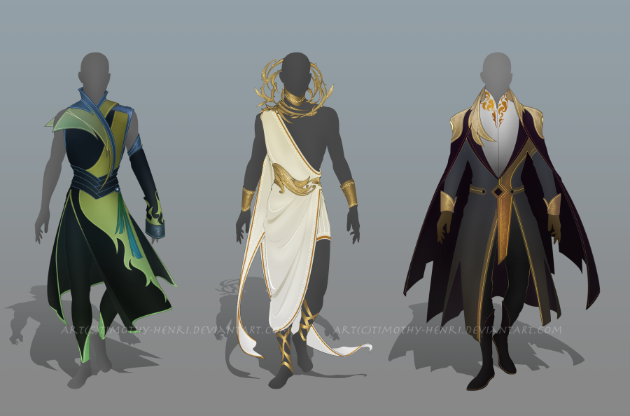 (CLOSED) - Male Outfit Adoptable Set #002 by Timothy-Henri on DeviantArt