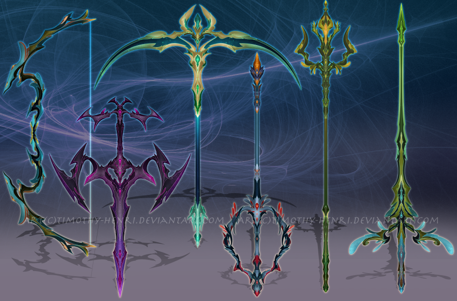 (OPEN-SP) - Weapon Adoptable Set #021 by Timothy-Henri