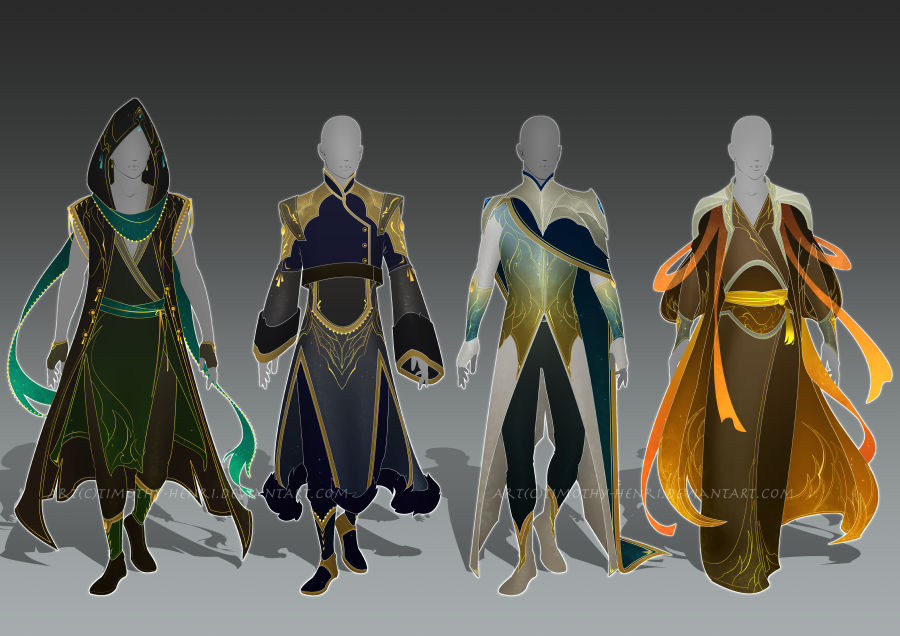 (CLOSED) - Male Outfit Adoptable Set #025