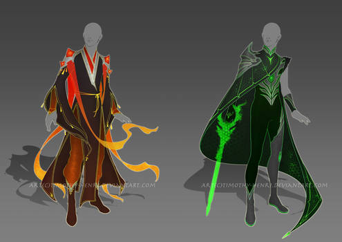 (CLOSED) - Male Outfit Adoptable #005-#006