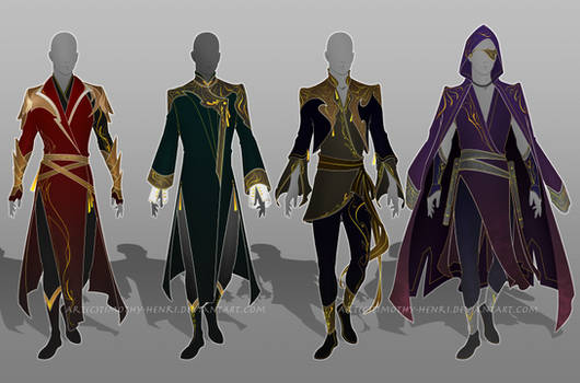 (CLOSED) - Male Outfit Adoptable Set #027