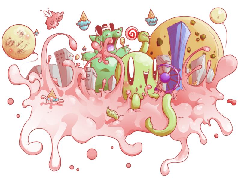 Google Doodle entry 2009 by CuteKillerDog