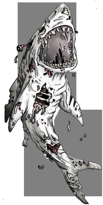 Zombie Shark Tattoo by CuteKillerDog on DeviantArt Zombie Shark Tattoo