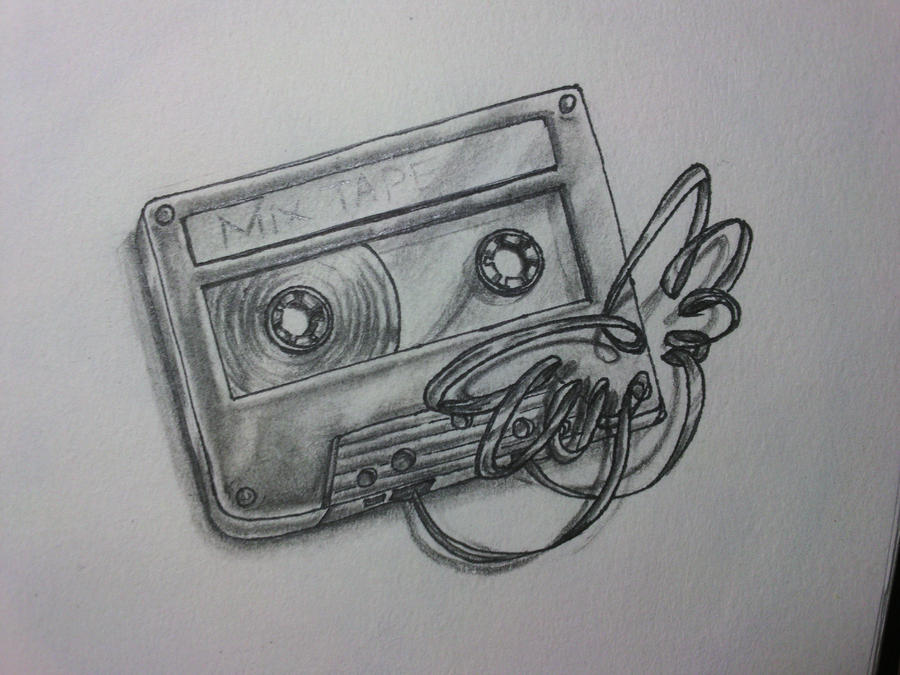 atrade winged cassette tattoo by cutekillerdog on deviantart. Black Bedroom Furniture Sets. Home Design Ideas