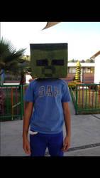 My minecraft zombie costume by dragonxtrem