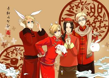 Happy Bunny new year by akato3