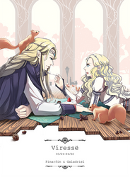 Daughters - Finarfin and Galadriel by akato3