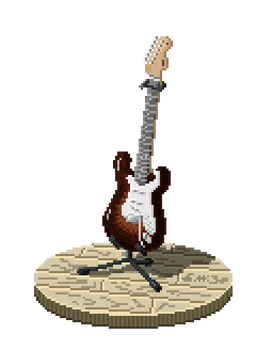 Fender Guitar in pixels