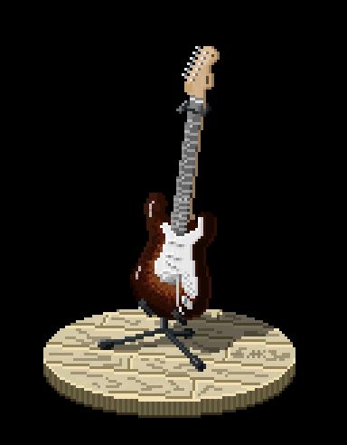 Fender Guitar in pixels by kilmar64