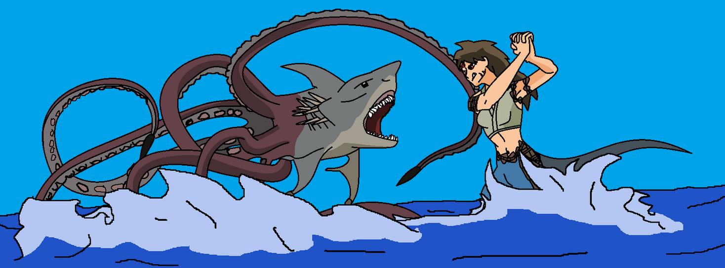 Nara vs sharktopus by dominator2001 on DeviantArt