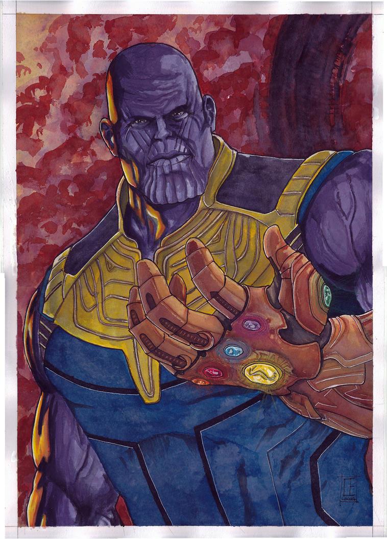 Thanos Infinity War by Ceduardocunha