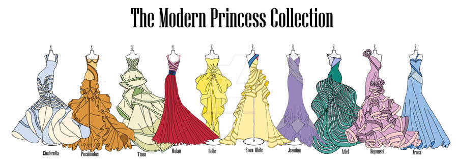 Modern Disney Princess Collection by MizzSamantha ...  sc 1 st  DeviantArt & Modern Disney Princess Collection by MizzSamantha on DeviantArt