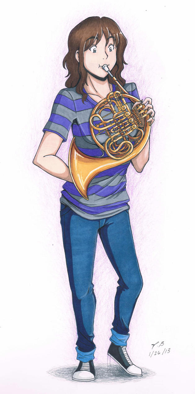 Person playing french horn
