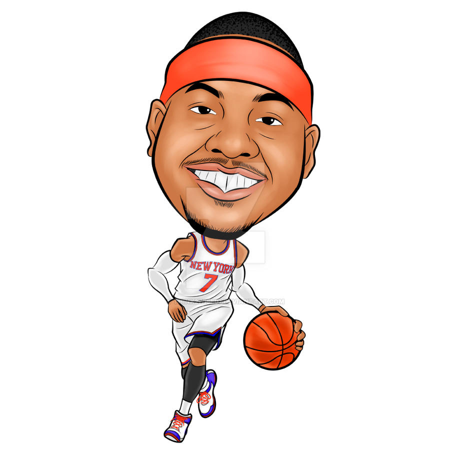 Image result for CARMELO ANTHONY CARTOONS