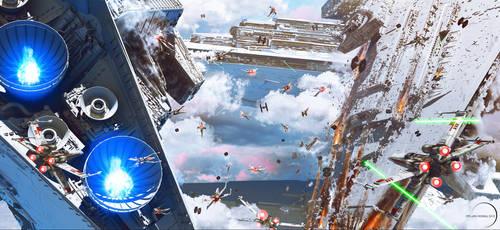 Star Wars - Sky Battle by Dylan-Kowalski