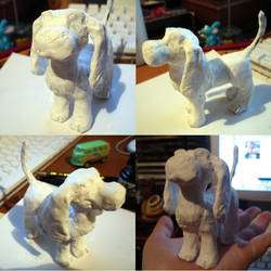 Unpainted Beagle Clay Figure by SeltzerAddict