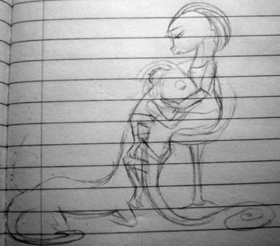 Randall Sandra sketchie by SeltzerAddict